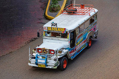 Photograph - Jeepney Sr Sto Nino by James BO Insogna