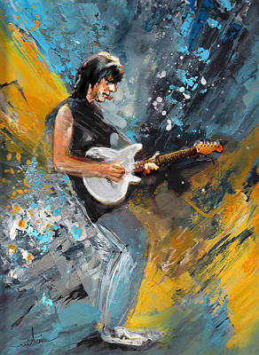 Music Paintings - Jeff Beck 01 by Miki De Goodaboom
