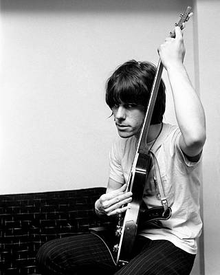 Print featuring the photograph Jeff Beck 1966 Yardbirds by Chris Walter