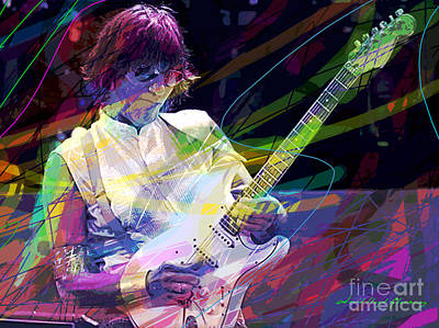 Fender Strat Painting - Jeff Beck Bolero by David Lloyd Glover