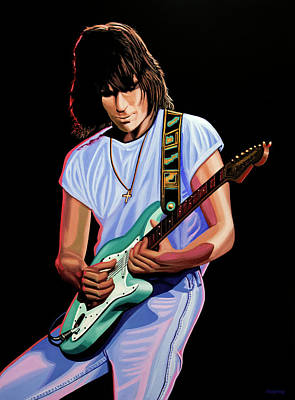 Painting - Jeff Beck Painting by Paul Meijering