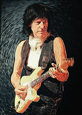 Yardbirds Painting - Jeff Beck by Taylan Apukovska