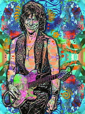Painting - Jeff Beck Wired by Dean Russo Art