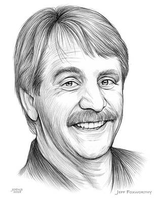 Drawings - Jeff Foxworthy by Greg Joens