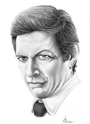 Murphy Drawing - Jeff Goldblum by Murphy Elliott