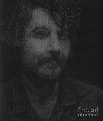 Jeff Drawing - Jeff Tweedy by Dan Lockaby