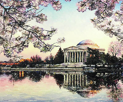 Jefferson Memorial Painting - Jefferson Blooming by Spencer Yancey