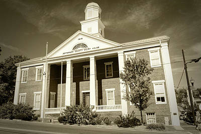 Photograph - Jefferson Co Courthouse Sepia by Sharon Popek