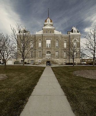 Photograph - Jefferson County Courthouse In Fairbury Nebraska Rural by Art Whitton