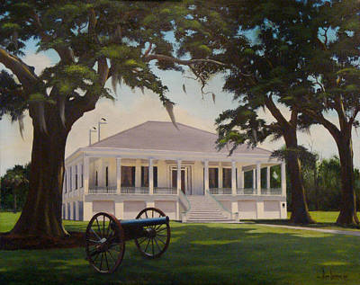 Mississippi Painting - Jefferson Davis Home by Ron Landry