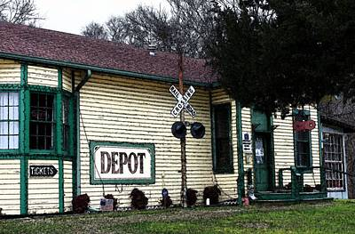 Photograph - Jefferson Depot by Ellen Barron O'Reilly