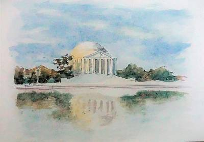 Jefferson Memorial Painting - Jefferson by Dominic Abela