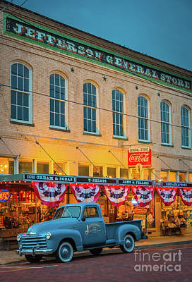 Illuminated Photograph - Jefferson General Store by Inge Johnsson