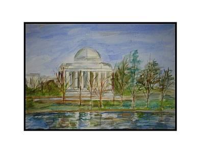 Jefferson Memorial Print by Angela Puglisi