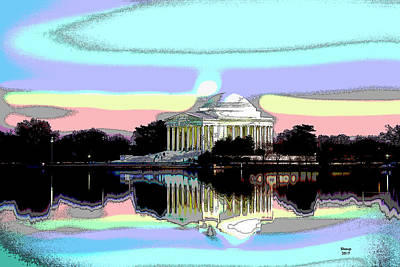 Jefferson Memorial Mixed Media - Jefferson Memorial by Charles Shoup