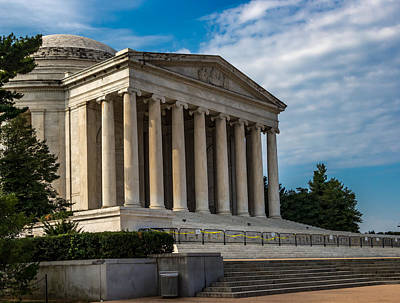 Photograph - Jefferson Memorial Closed by Ed Clark