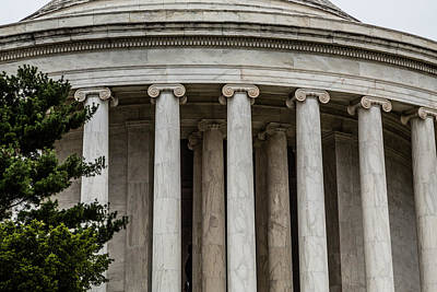 Photograph - Jefferson Memorial Columns by Karen Saunders