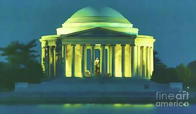 Digital Art - Jefferson Memorial by D Hackett