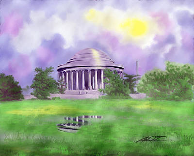 Painting - Jefferson Memorial, D.c.  by Dale Turner
