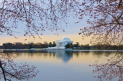 Jefferson Memorial Digital Art - Jefferson Memorial In Spring by Bill Cannon