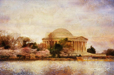 Jefferson Memorial Wall Art - Digital Art - Jefferson Memorial Just Past Dawn by Lois Bryan