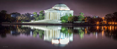 Photograph - Jefferson Memorial, Night by Ross Henton