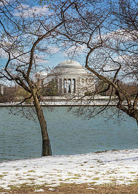 Photograph - Jefferson Memorial On A Cold Spring Day by Karen Jorstad
