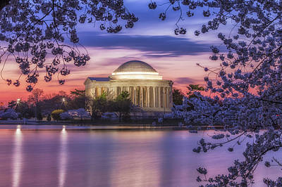 Photograph - Jefferson Memorial Pre-dawn by David Cote