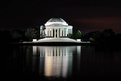 Photograph - Jefferson Memorial Reflection by Bill Dodsworth