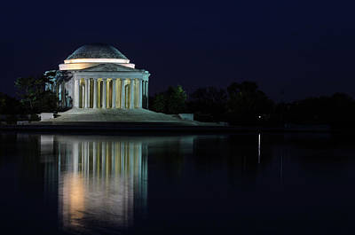 Photograph - Jefferson Memorial Reflection by Stewart Helberg
