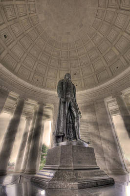 Politicians Royalty-Free and Rights-Managed Images - Jefferson Memorial by Shelley Neff