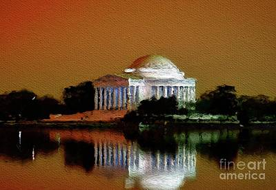 Jefferson Memorial Wall Art - Painting - Jefferson Memorial, Washington by Mary Bassett