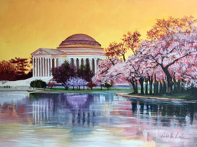 Mixed Media - Jefferson Monument by Robert Korhonen