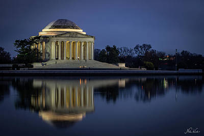 Photograph - Jefferson Reflecting by Framing Places