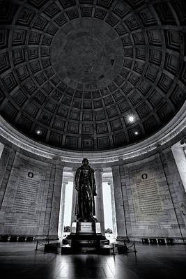 Jefferson Memorial Photograph - Jefferson Statue In The Memorial by Andrew Soundarajan