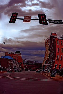 Downtown Huntsville Photograph - Jefferson Street Huntsville Alabama by Lesa Fine