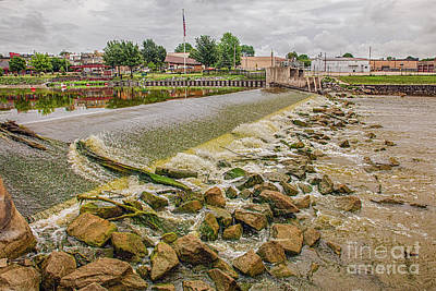 Nikki Vig Royalty-Free and Rights-Managed Images - Jefferson Wisconsin Dam  by Nikki Vig