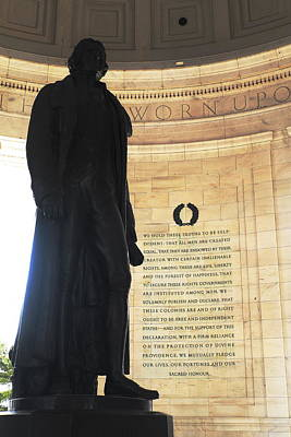 Photograph - Jefferson's Words by George Taylor