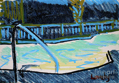 Painting - Jeffery's Pool At Night by Candace Lovely