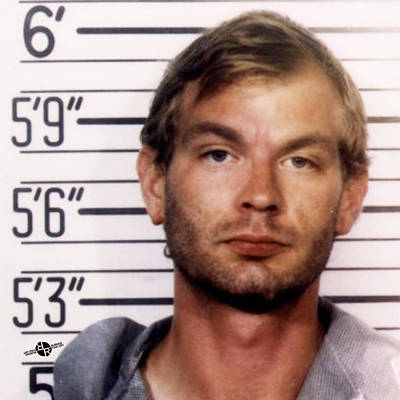 Jeffrey Dahmer Mug Shot 1991 Square  Original by Tony Rubino