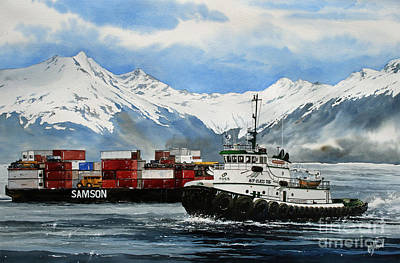 Tugboat Painting - Jeffrey Foss Samson Tow by James Williamson