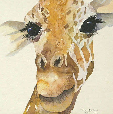 Painting - Jeffrey Giraffe by Jerry Kelley
