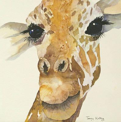 Jeffrey Giraffe Art Print