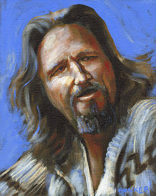 Lebowski Painting - Jeffrey Lebowski - The Dude by Buffalo Bonker
