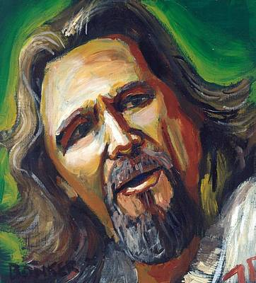 Jeff Bridges Painting - Jeffrey Lebowski The Dude by Buffalo Bonker