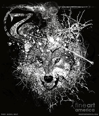 Mixed Media - Jeffwolf by Tony Koehl