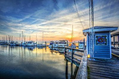 Jekyll Harbor Art Print by Debra and Dave Vanderlaan