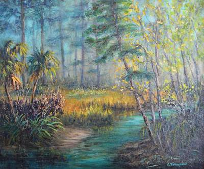 Painting - Jekyll Island Wetlands Landscape Painting by Amber Palomares