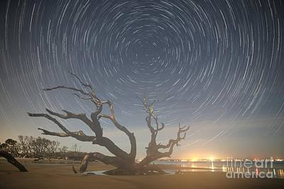 Photograph - Jekyll Island Star Trails by Robert Loe