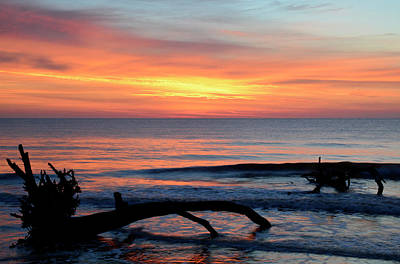 Print featuring the photograph Jekyll Island Sunrise 2016b by Bruce Gourley